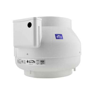 500 CFM White Powered 10 in. Inline Duct Fan