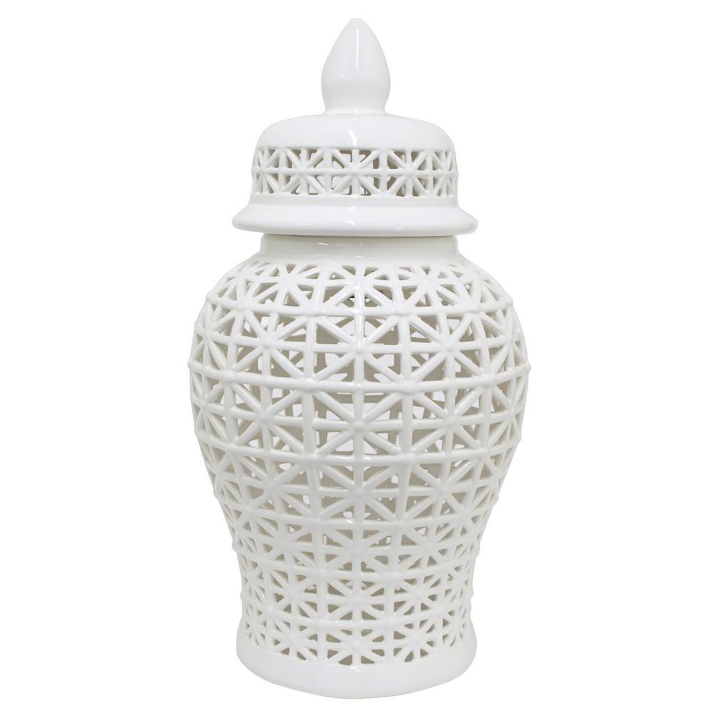 25 in. Ceramic Temple Jar