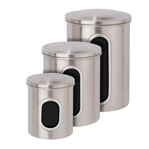 Surprising Honey Can Do Metal Storage Canisters In Stainless Steel 3 Best Image Libraries Thycampuscom