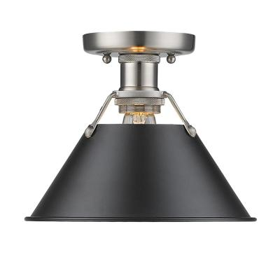 Orwell PW 1-Light Pewter Flush Mount Light
