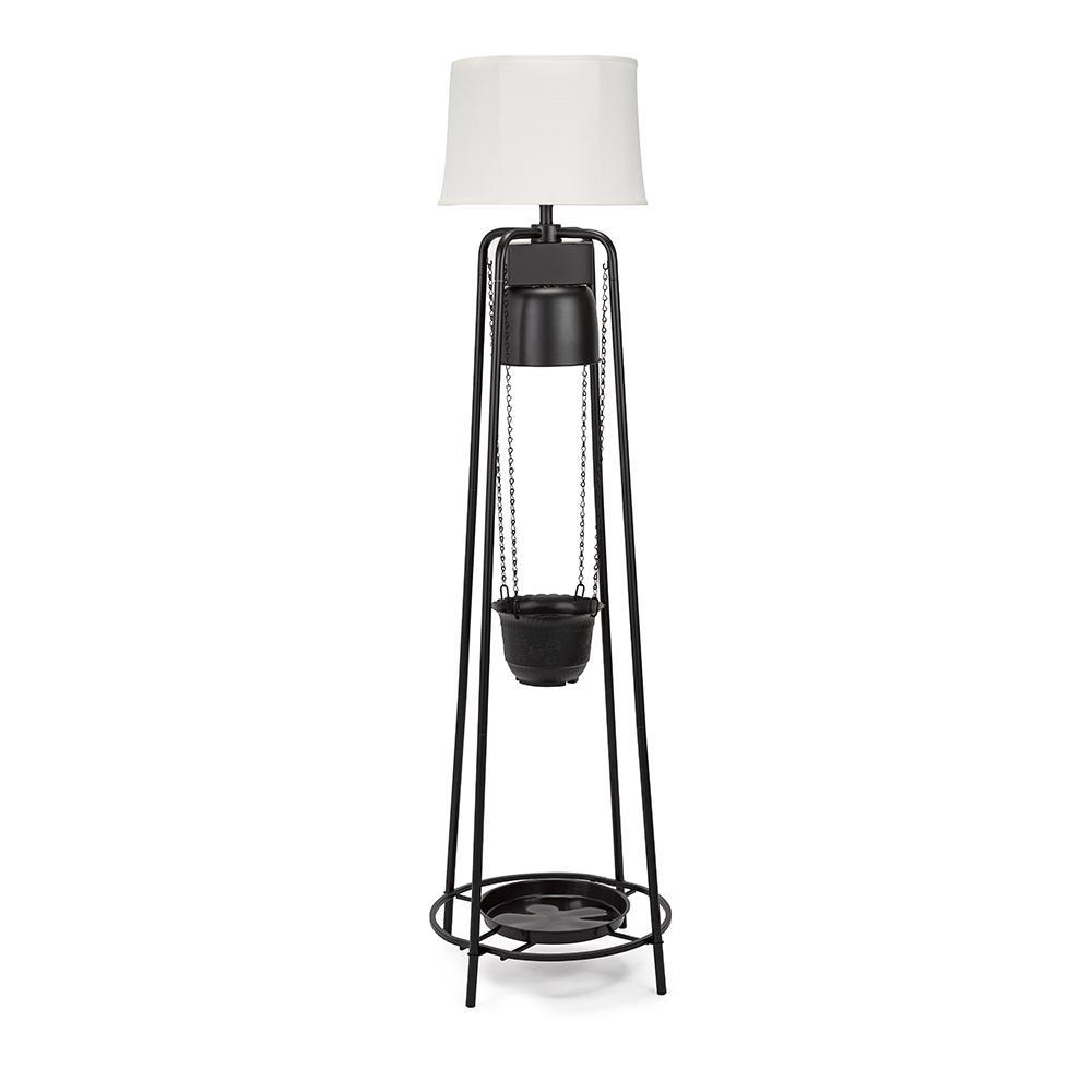 71.5 in. 45-Watt Black LED Grow Light Decorative Etagere Floor Lamp