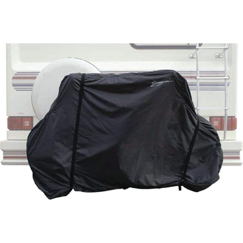 Horizontal Black 2-Bike RV Hitch Mount Cover Bag