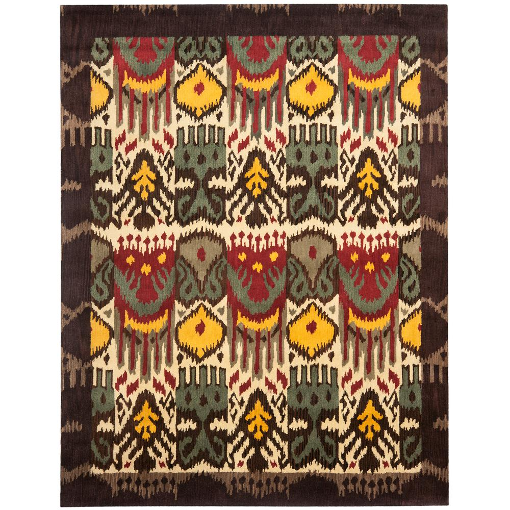 Safavieh Ikat Cream Brown 9 Ft X 12 Area Rug