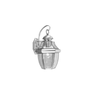 Montclair Mission 1-Light Brushed Nickel Outdoor Wall Lantern Sconce