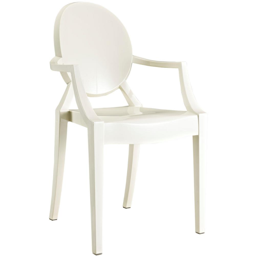 Casper White Dining Arm Chair