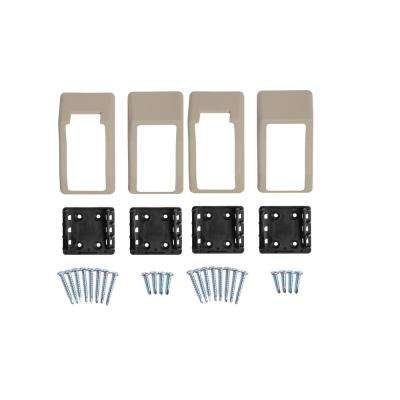 Walton Khaki Stair Railing Bracket Kit (4-Piece)