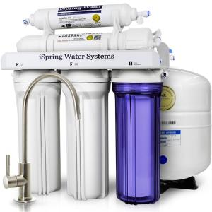 ISPRING WQA Gold Seal 5-Stage with Superior Quality Filter 75GPD Under Sink Reverse Osmosis Drinking Water Filtration System by ISPRING