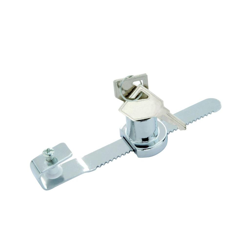 First Watch Security Chrome Showcase Door Lock 1306 The Home Depot