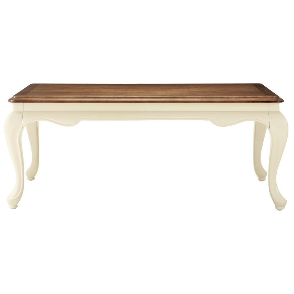 Provence Ivory Coffee Table with Ash Grey Top