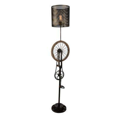 Bici 70 in. Antique Brass Floor Lamp