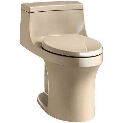 San Souci Touchless Comfort Height 1-Piece 1.28 GPF Single Flush Elongated Toilet with AquaPiston Flush in Mexican Sand