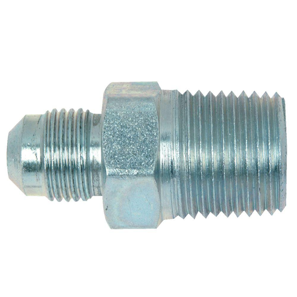 3/8 in. O.D. Flare x 1/2 in. MIP Steel Gas Fitting