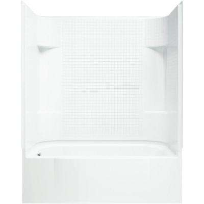 Accord 30 in. x 60 in. x 74.25 in. Tile Bath/Shower Kit with Left-Hand Drain in White