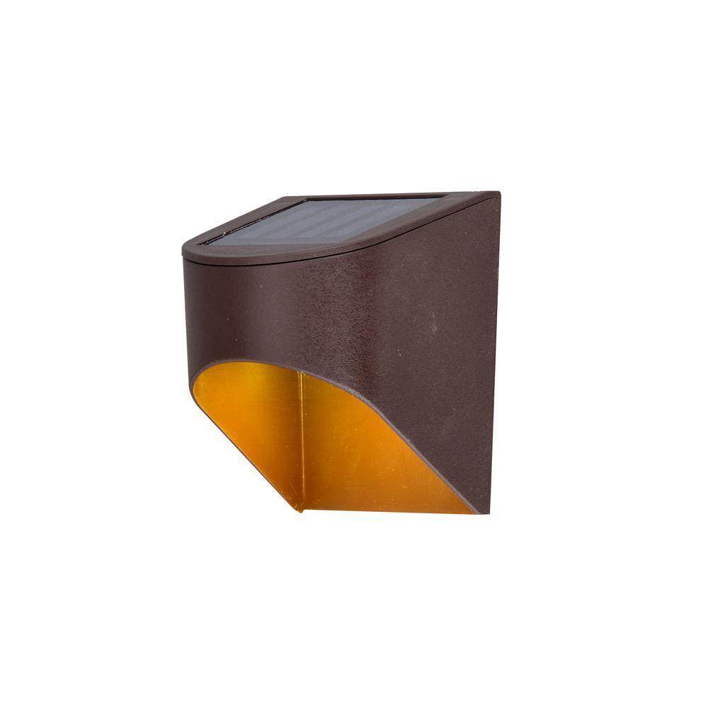 Solar Bronze Integrated LED Deck Light (2-Pack)