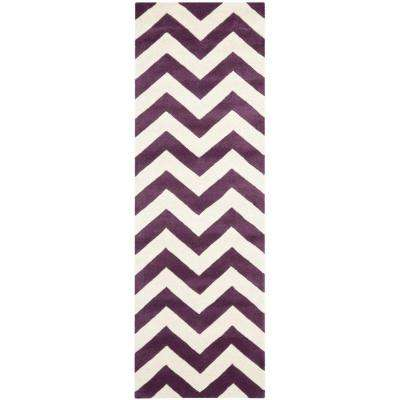Chatham Purple/Ivory 2 ft. x 5 ft. Runner Rug