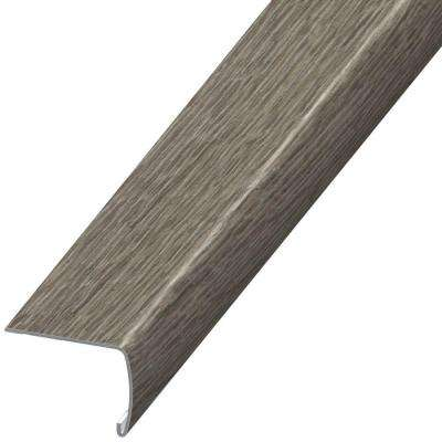 Antique Brushed Oak 7 mm Thick x 2 in. Wide x 94 in. Length Coordinating Vinyl Stair Nose Molding