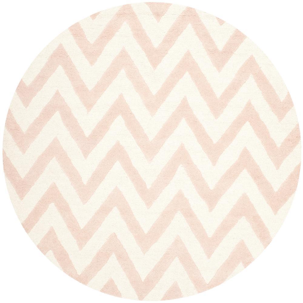 Chevron Pink Wool Area Rugs