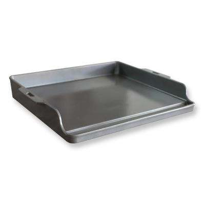 12 in. Ceramic Nonstick Indoor/Outdoor BBQ Griddle in Charcoal Gray
