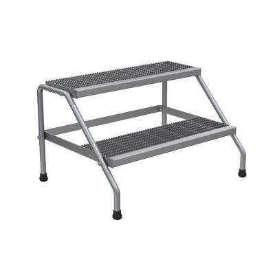2-Step Aluminum Step Stand - Knock Down and Wide Welded