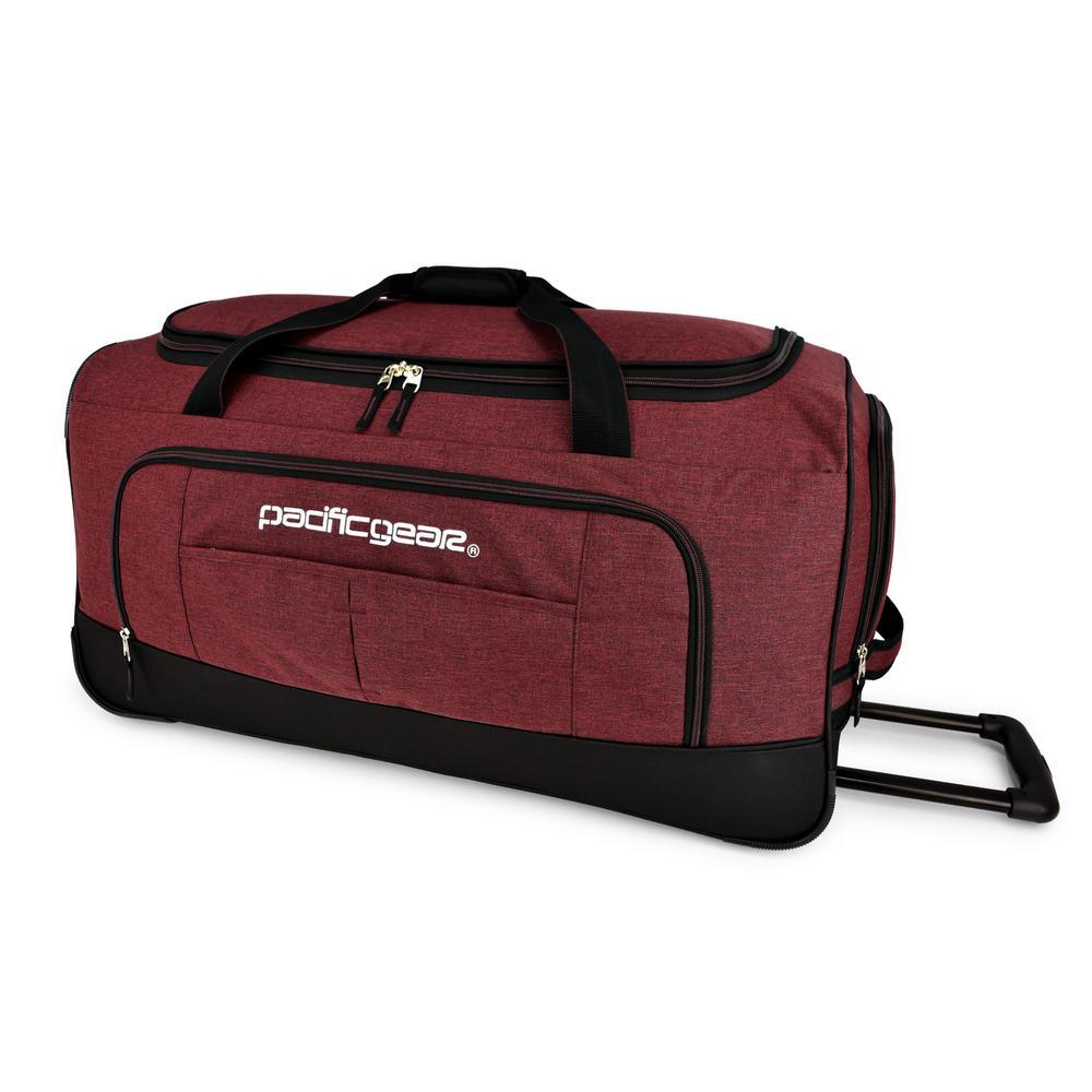 Keystone 30 in. Rolling Burgundy Duffel Bag