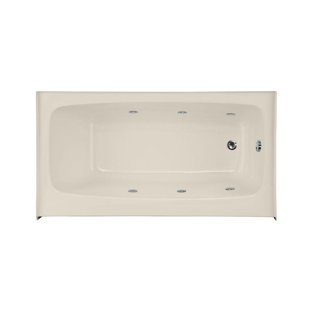 Hydro Systems Trenton 5.5 ft. Right Hand Drain Whirlpool Tub in Biscuit