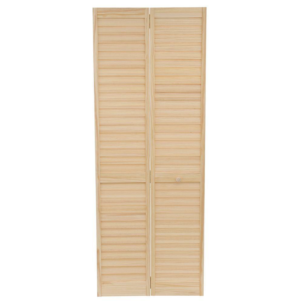 Plantation louvered sliding closet doors - Kimberly Bay 30 In X 80 In 30 In Plantation Louvered Solid Core