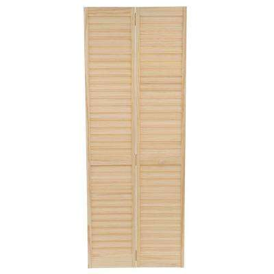 Plantation Louvered Solid Core Unfinished Wood Interior Closet Bi-fold Door  sc 1 st  The Home Depot & No panel - 30 x 80 - Interior u0026 Closet Doors - Doors u0026 Windows ... pezcame.com