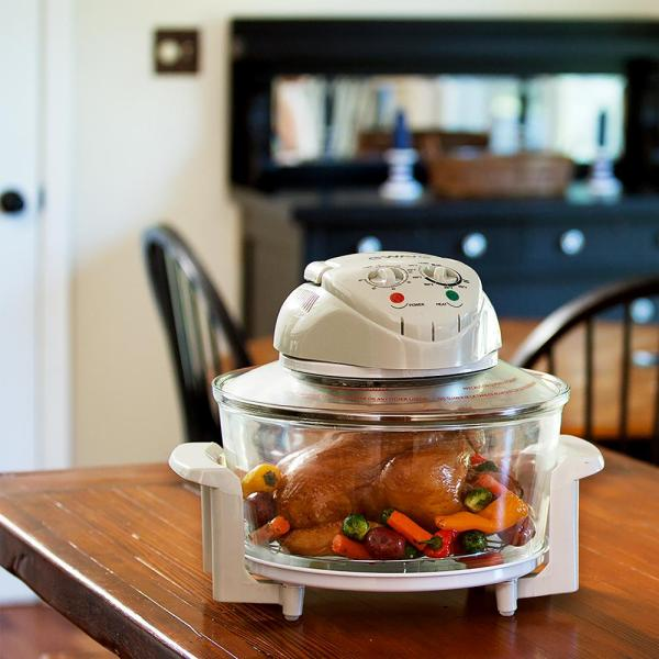 Magic Chef 1300 W White Convection, Glass Bowl Convection Oven Recipes