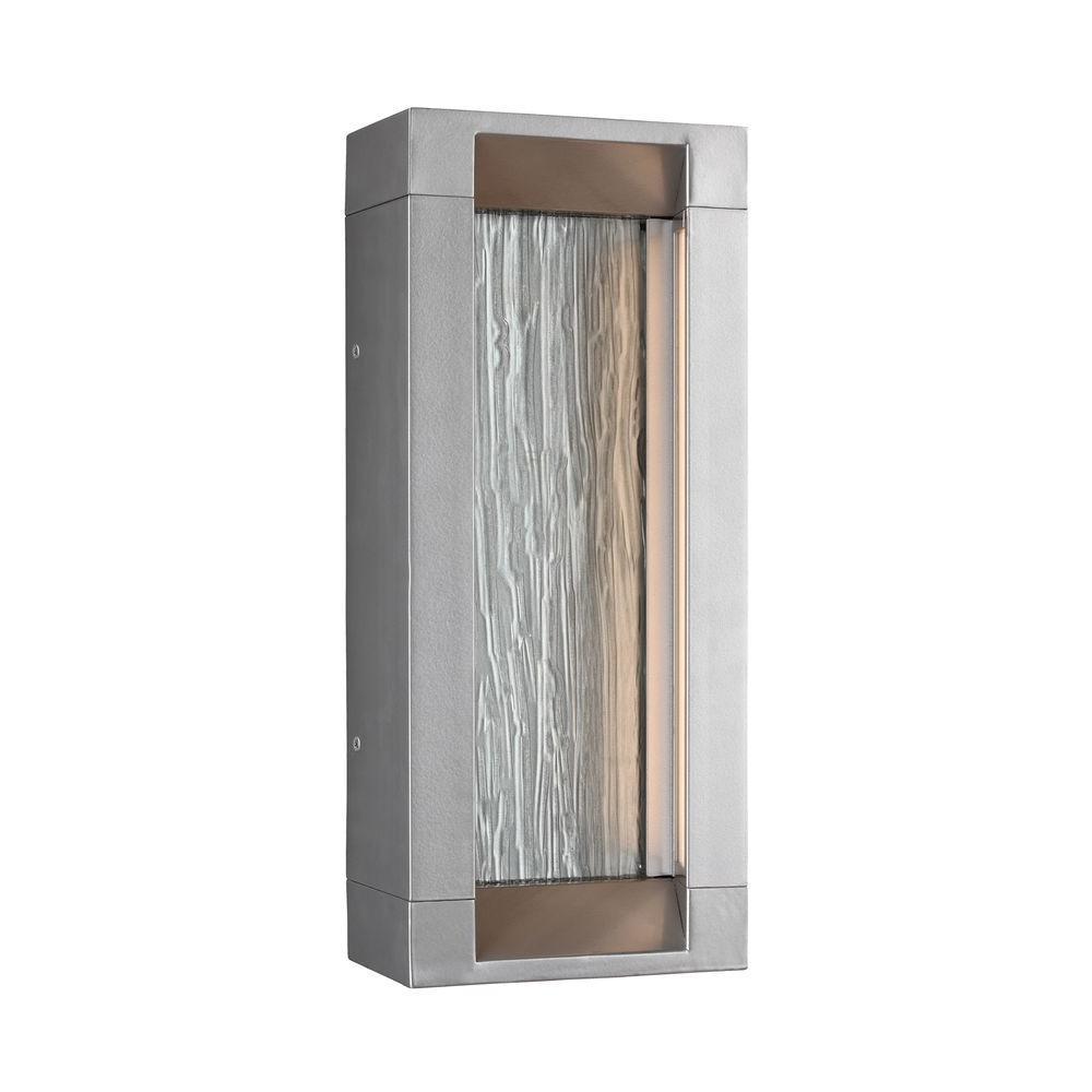 Mattix Painted Silver Outdoor LED Wall Lantern