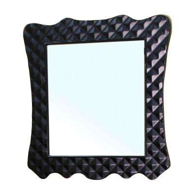 Veneto 34 in. L x 32 in. W Wall Mirror in Black