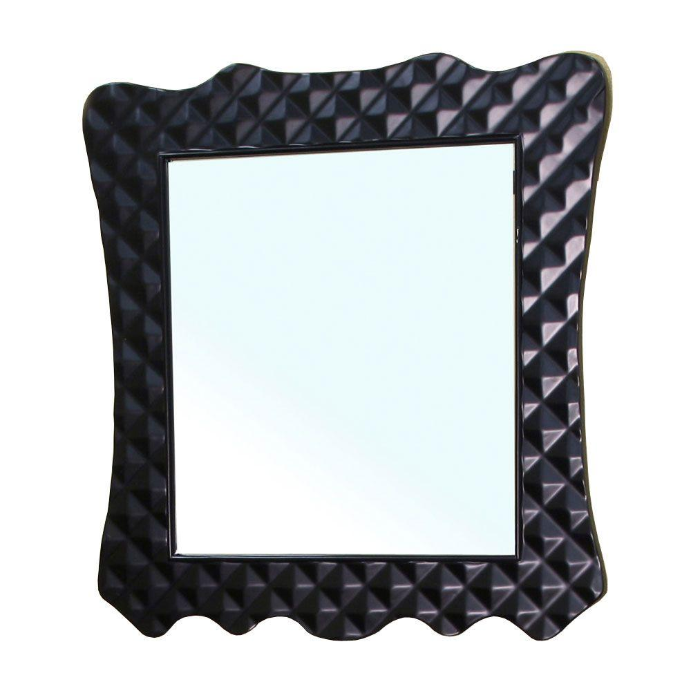 Bellaterra Home Veneto 34 in. L x 32 in. W Wall Mirror in Black