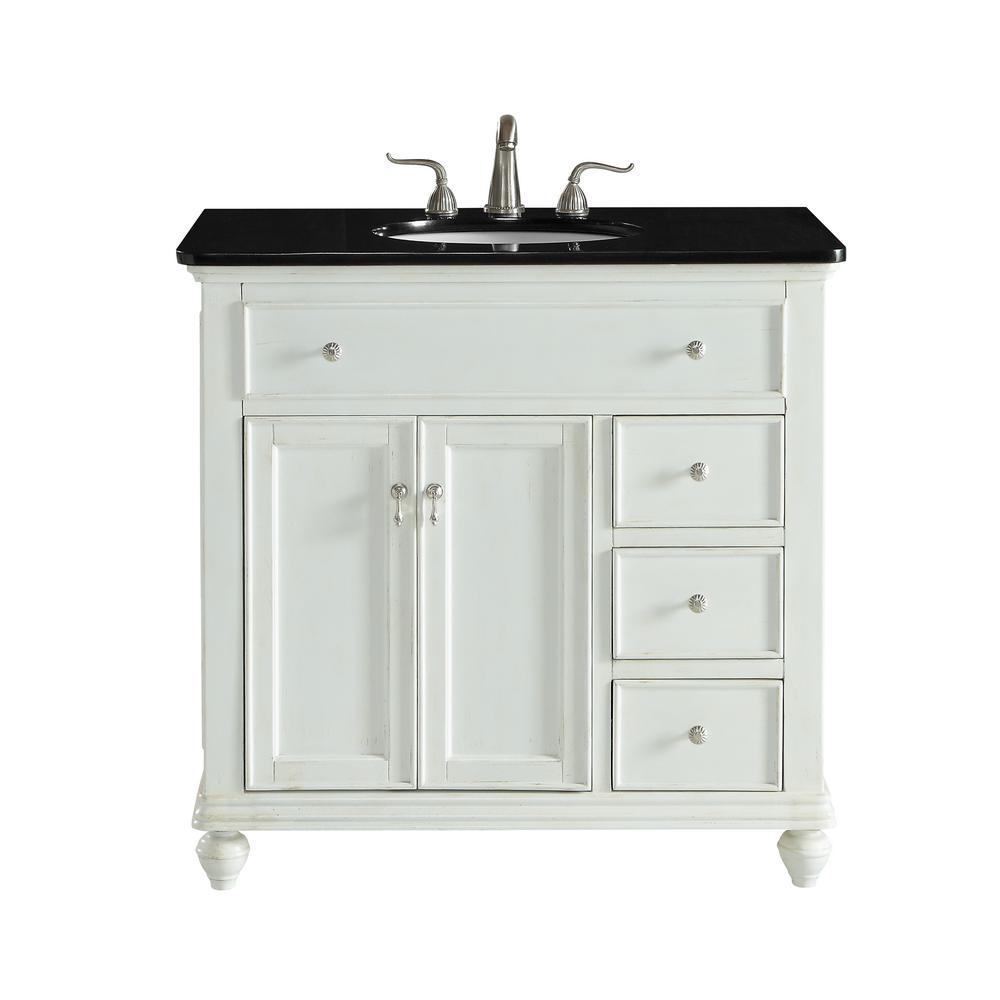 somerton 36 in single bath vanity w 3 drawers 1 shelf 2 doors rh homedepot com antique white bathroom vanity light antique white bathroom vanity cabinet