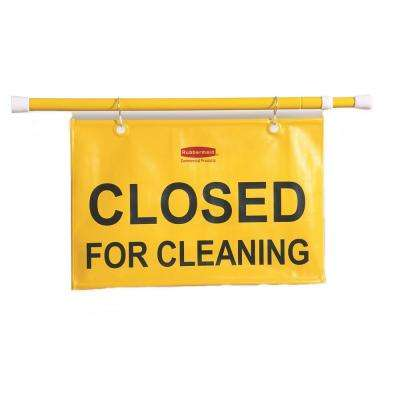 50 in. W x 1 in. D x 13 in. H Site Safety Hanging Sign in Yellow