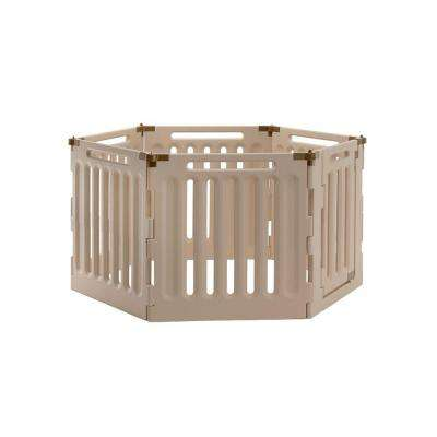 Medium 6-Panel Plastic Convertible Indoor/Outdoor Pet Playpen