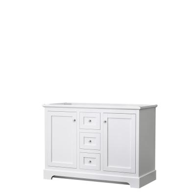 Avery 47.25 in. W x 21.75 in. D Vanity Cabinet Only in White