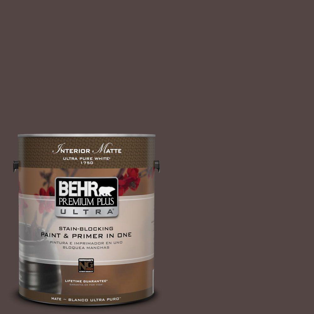 BEHR Premium Plus Ultra Home Decorators Collection 1 gal. #HDC-MD-13 Rave Raisin Flat/Matte Interior Paint