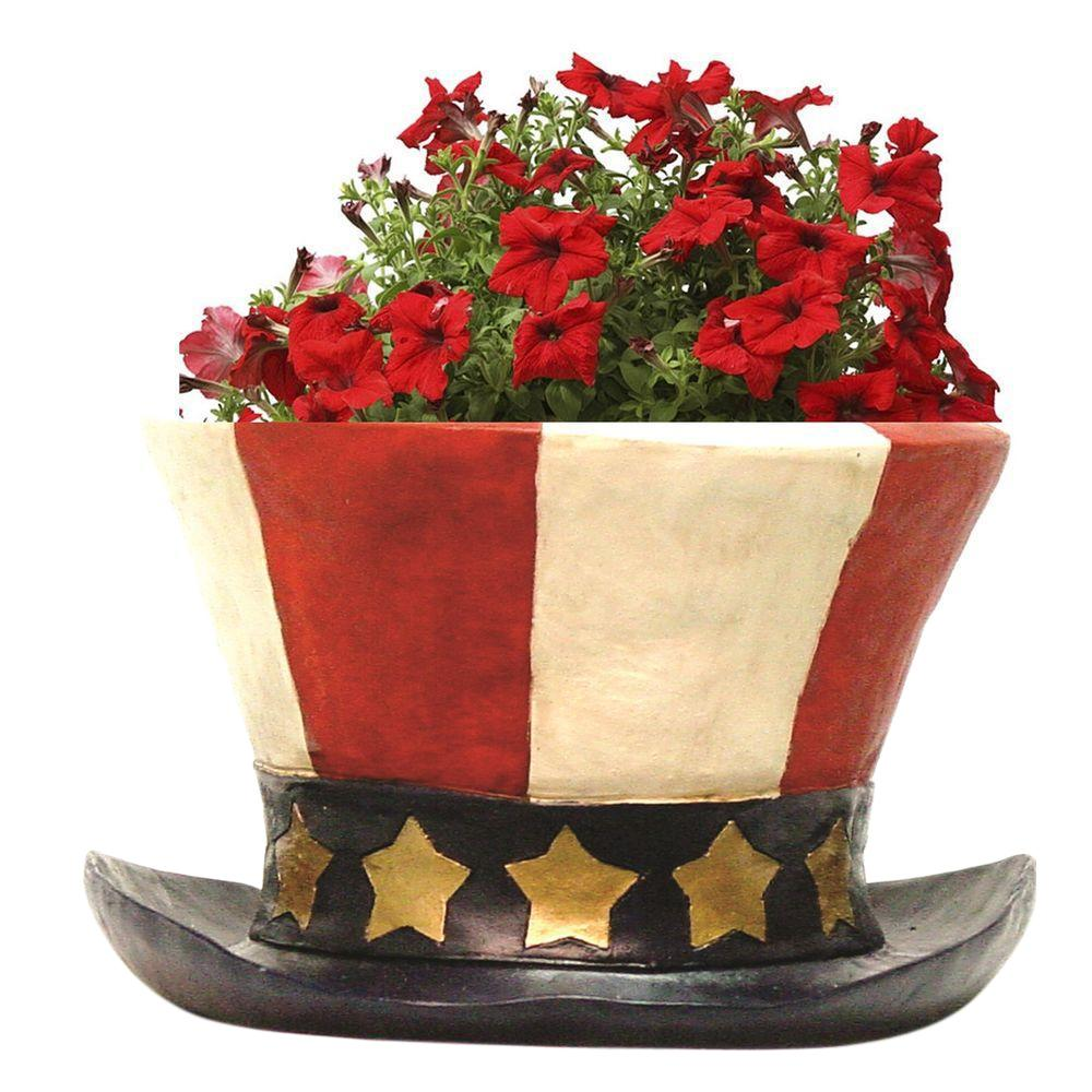 Toad Hollow Uncle Sam S Patriotic America Flag Hat Planter