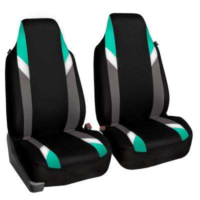 Supreme Modernistic Polyester 21 in. x 20 in. x 2 in. Half Set Seat Covers