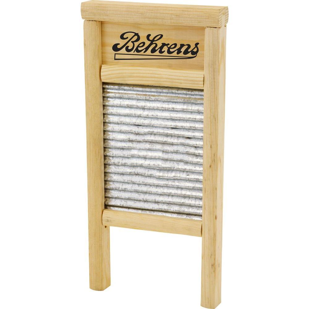 Behrens 14.5 in. L x 7.25 in. W Galvanized Washboard
