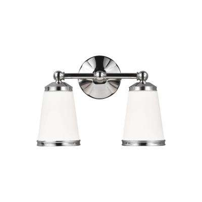 Eastwood 2-Light Polished Nickel Vanity Light