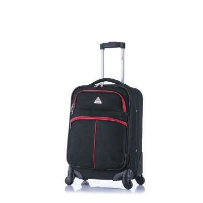 Roller-FI lightweight softside spinner 20 in. carry-on Black and Red