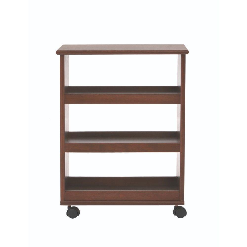 Stanton 20 in. W Multi-Function 3-Shelf Storage Cart in Dark Cherry