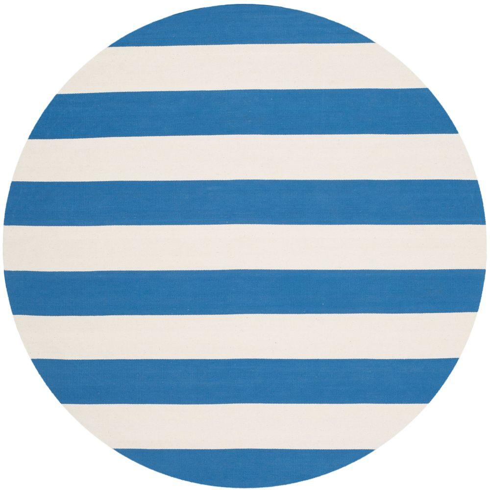 Blue And White Circle Rug: Safavieh Montauk Blue/Ivory 4 Ft. X 4 Ft. Round Area Rug