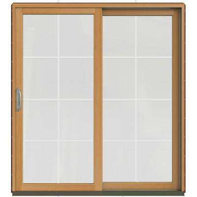 71-1/4 in. x 79-1/2 in. W-2500 Mesa Red Prehung Right-Hand Clad-Wood Sliding Patio Door with 8-Lite Grids