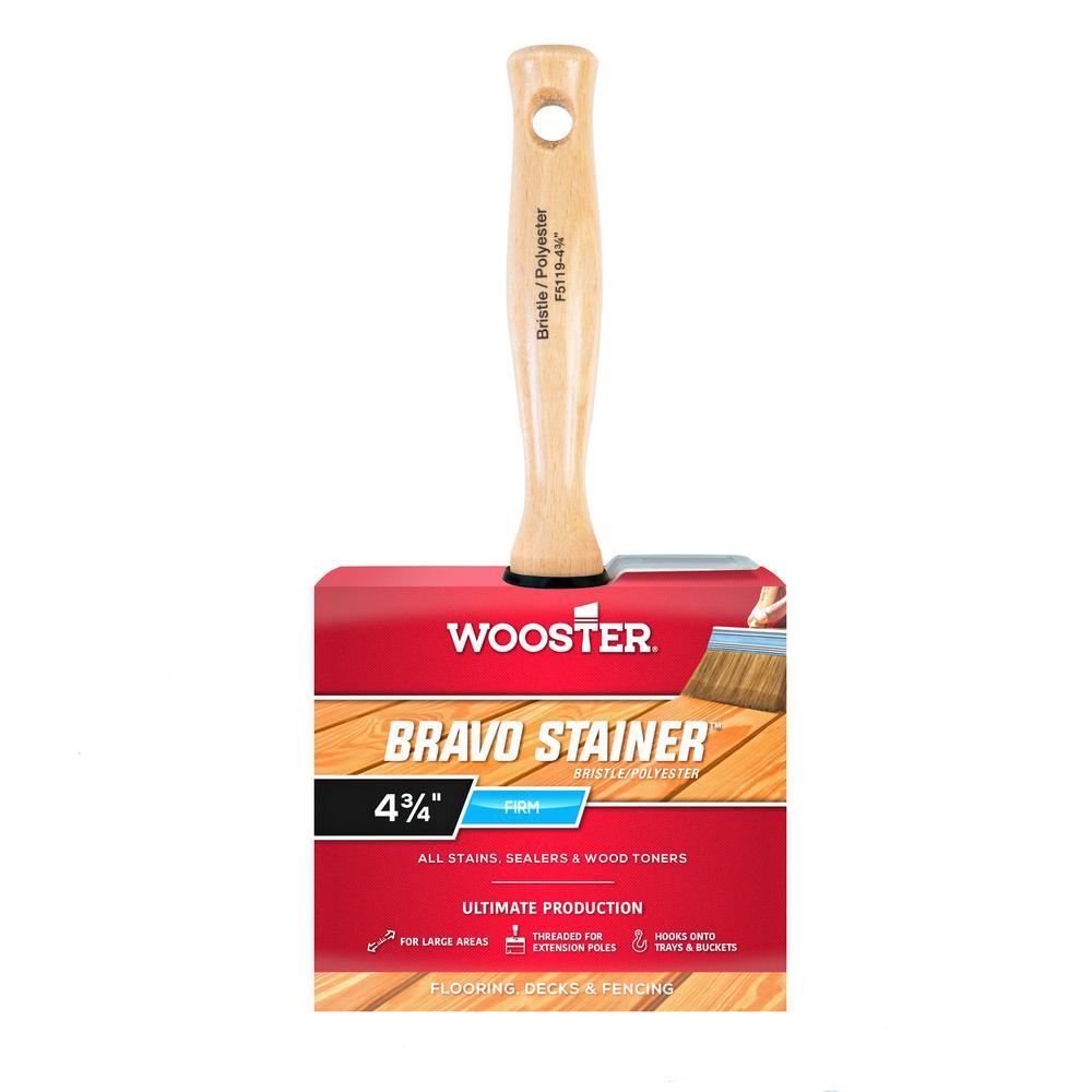 4-3/4 in. Bristle/Polyester Bravo Stainer Brush