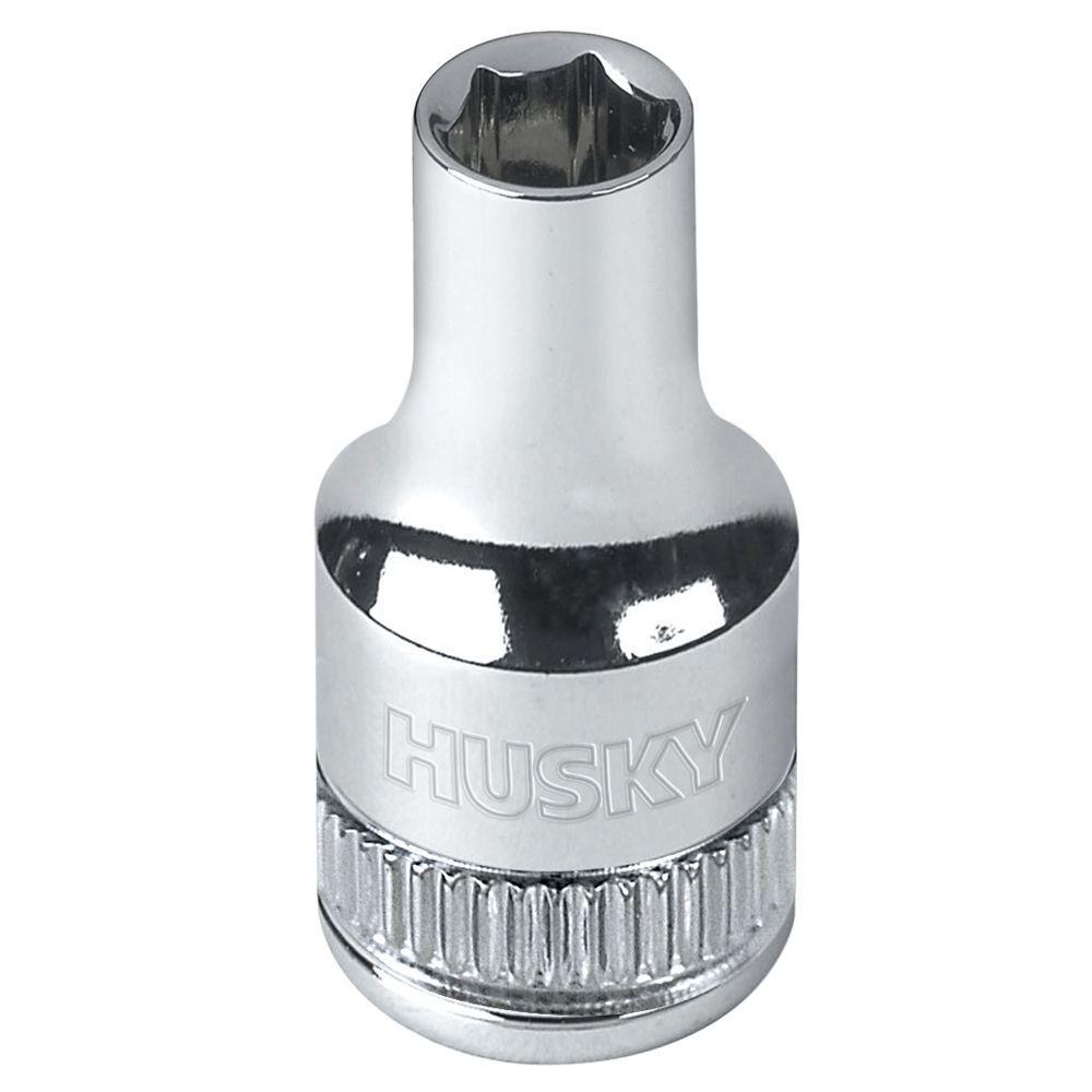 Husky 1/4 in. Drive 4 mm 6-Point Metric Standard Socket