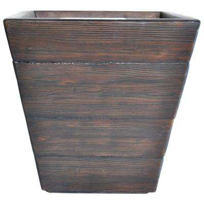 24 in. sq. Dark Brown Composite Tapered Faux Wood