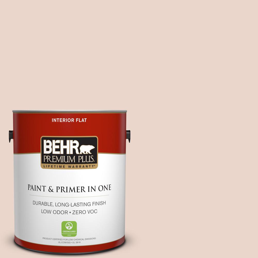 BEHR Premium Plus 1-gal. #210E-2 Antique Pearl Zero VOC Flat Interior Paint