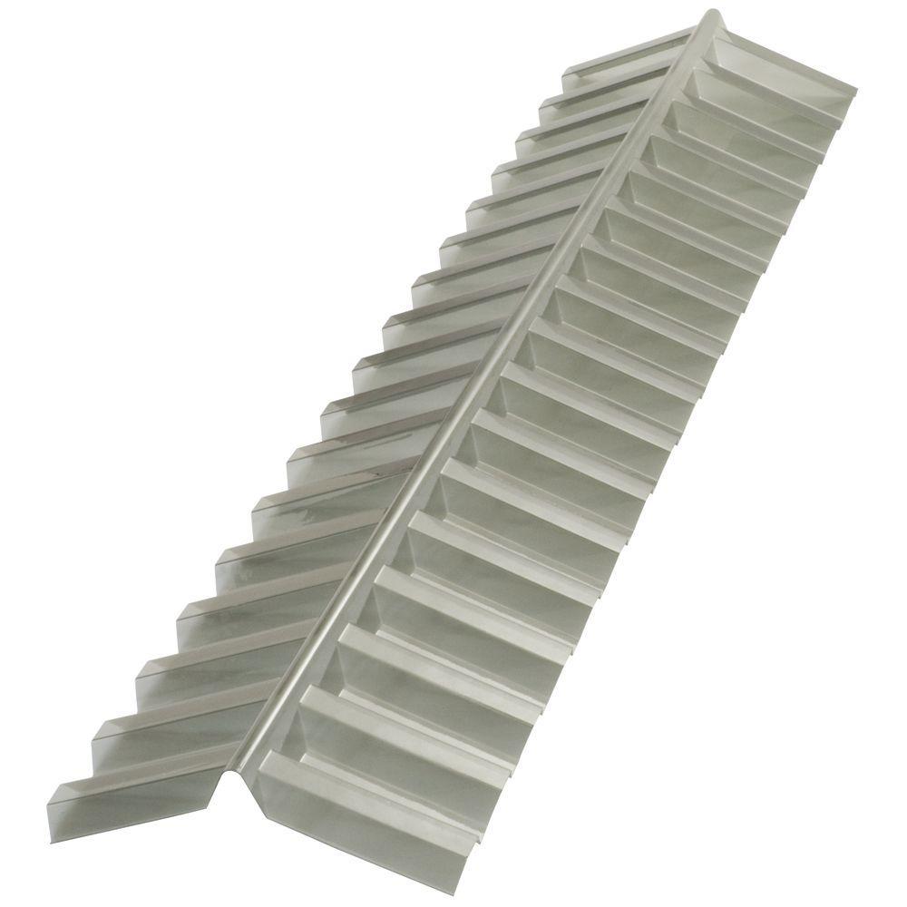 4 ft. Solar Grey Polycarbonate Roof Panel Ridge Cap