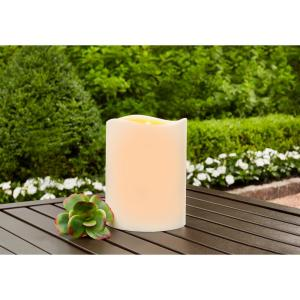 4.5 in. x 6 in. Remote Ready Battery Operated Outdoor Patio Resin LED Candle